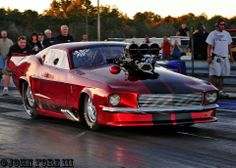 Mustang pro mod drag racing