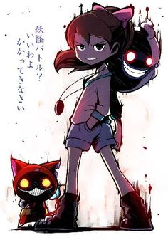 Youkai Watch, Horror, My Favorite Image, Anime Love, Vocaloid, Cool Art, Animation, Fan Art, Fnaf