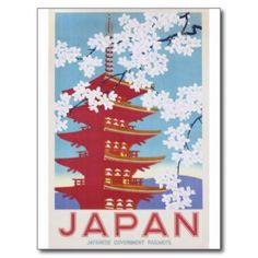 Japan Travel Postcards & Postcard Template Designs