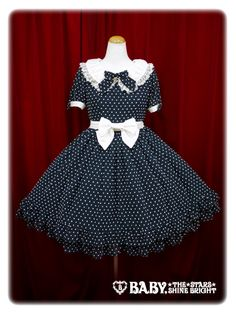 Baby, the stars shine bright Snow dot chiffon one piece dress