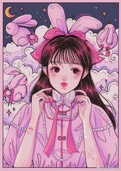 Aesthetic Art, Aesthetic Anime, Aesthetic Vintage, Pretty Art, Cute Art, Arte Indie, Deco Retro, Pretty Drawings, Cyberpunk Art