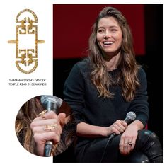 """Hollywood actress, Jessica Biel attended the SAG-AFTRA foundation conversations presents """"The Sinner"""" in NYC, wearing the Shanhan String Dancer Temple Ring in Diamonds."""