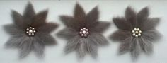 Inuit made sealskin flowers by Christine Gordon-Tootoo Skin Craft, Pillar And Post, Purse Patterns, Sell Items, Flower Designs, Sewing Crafts, Handmade Items, Inuit Art, Hair Accessories