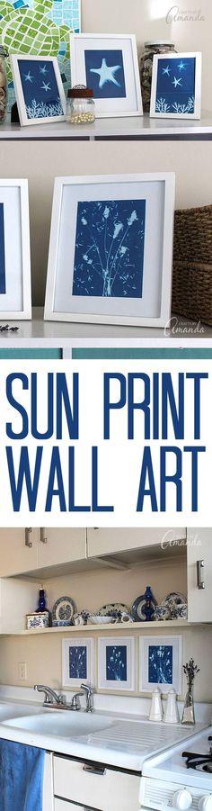 Use sun print paper