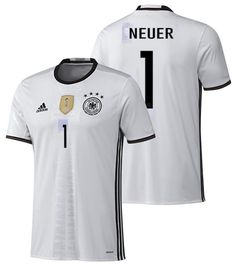 ADIDAS GERMANY EURO 2016 MANUEL NEUER HOME JERSEY White/Black.