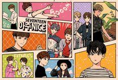 SEVENTEEN - Fan art not repost without permission to other sites Vernon, Day6 Sungjin, Seventeen Memes, Won Woo, Seventeen Wallpapers, Kpop Fanart, Mingyu, Stickers, Chibi