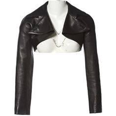 Pre-owned Alaïa Leather Short Vest ($1,056) ❤ liked on Polyvore featuring outerwear, vests, black, women clothing jackets, leather vest, short vest, vest waistcoat, alaïa and genuine leather vest