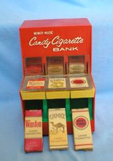 Candy Cigarettes.....getting kids ready for the real one's.  Nasty bad habit for your health.