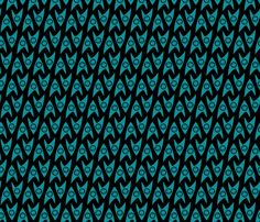 Star Trek TOS Science Insignia fabric by meglish on Spoonflower - custom fabric
