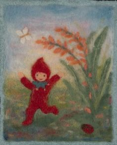 Red gnome by Judit Gilberts