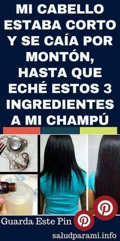 MI CABELLO ESTABA CORTO Y SE CAÍA POR MONTÓN, HASTA QUE ECHÉ ESTOS 3 INGREDIENTES A MI CHAMPÚ #salud #cabello #ingredientes #champu
