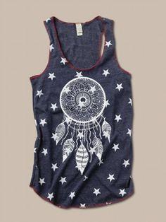 NEW Boho DREAMCATCHER Tribal Star or Camo Print por FreeBirdCloth