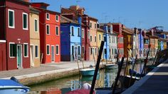 Burano an island in Venice Italy, is known for its characteristic colorful buildings Passport Travel, Us Travel, Girl Travel, Venice Travel, Italy Travel, Colourful Buildings, Cinque Terre, Venice Italy, Weekend Getaways