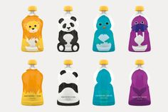 Cartoony Baby Food Branding - Squooshi Packaging Appeals to the Eyes, the Tummy and the Planet (GALLERY) Kids Packaging, Pouch Packaging, Food Packaging Design, Coffee Packaging, Packaging Design Inspiration, Dairy Packaging, Food Branding, Baby Food By Age, Food Baby