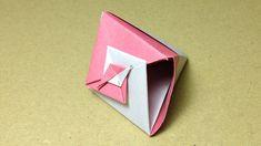 【折り紙(おりがみ)】 巻貝のギフトボックス(箱)の折り方 作り方 二色折り 実用 入れ物 立体