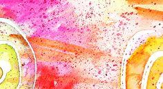 watercolors + masking fluid