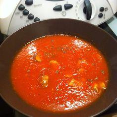 Rezept Tomaten-Paprika-Suppe mit Champions von mesen - Rezept der Kategorie…