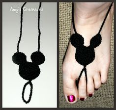 Amy's Crochet Creative Creations: Crochet Mickey Mouse Barefoot Sandal