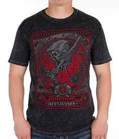 Affliction Reaper Of Truth T-Shirt - Men's T-Shirts in Black Lava Mens Tee Shirts, Cool T Shirts, Affliction Clothing, Lava, Cloths, Menswear, Mens Fashion, Hoodies, Street