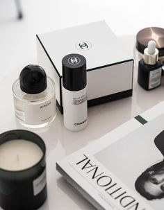 Beauty Products Skin Care Black And White Theme Chanel Beauty Skin Care Candles Home Decor Home Accessory Beauty Tips Inspiration Tumblr