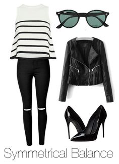 """""""Symmetrical Balance"""" by explorer-14571193385 on Polyvore featuring Ray-Ban, Cardigan and Dolce&Gabbana"""