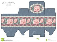 Cajita con rosas.