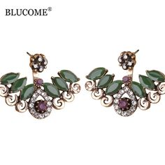Green Resin Double Sided Crystal Turkish Stud Earrings For Women Vintage  Party Jewelry   Price   13.99   FREE Shipping     sale  shoppingday f638a1119201