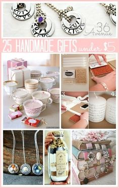 25 Handmade Gifts Under $5 by paxton quinn