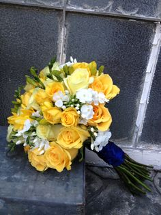 Wedding flowers*bridal bouquet*yellow roses,fressia