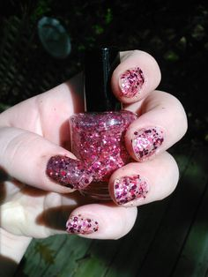 Know Hope - LE Charity Glitter Polish - Breast Cancer Awareness. $10.00, via Etsy.