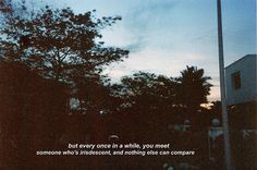 but every once in a while, you meet someone who's iridescent, and nothing else can compare