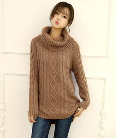 sweater-light-brown-high-low-turtle-neck-braided-sweater-009946_1.jpg (800×954)