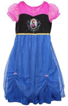 Frozen Anna Fantasy Dressy Nightgown, Girls Size 12