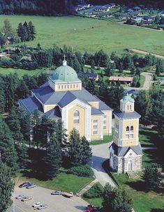 World biggest wooden church in Kerimäki, Finland.