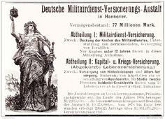 Original-Werbung/Anzeige 1898 - DEUTSCHE MILITÄRDIENST VERSICHERUNGS-GESELLSCHAFT - HANNOVER - ca. 90 x 65 mm