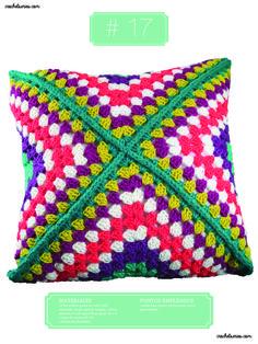 Crochet Almohadones #17 Blanket, Accessories, Pillow Design, Dots, Blankets, Cover, Comforters, Jewelry Accessories