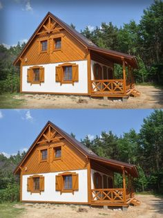 SENDOM.PL - Producent domów drewnianych Cabana, Clay Houses, Woodworking Jigs, Home Fashion, Tiny House, Small Spaces, House Plans, Floor Plans, House Styles