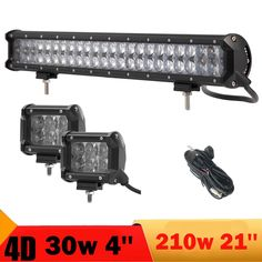 92.88$  Buy here - http://ali9vk.shopchina.info/1/go.php?t=32797536843 - 4D 30W 210W Offroad LED Light Bar 4'' 21'' Combo 12V 24V Car SUV Auto Truck Trailer ATV Tractor Wagon 4x4 4WD Boat Driving Lamp 92.88$ #magazineonline
