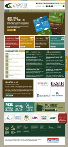 Fort Collins Area Chamber Website Design and Development