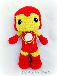 Crochet PATTERN Iron man