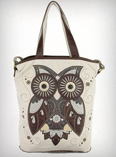Crafty Owl Tote Bag | PLASTICLAND