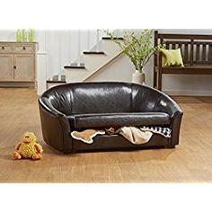 enchanted home pet dorchester storage dog sofa bed in dark brown