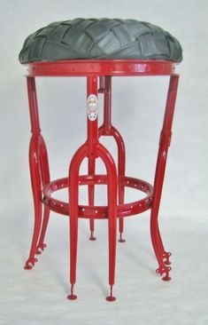 This artist recycles bicycle parts - beautiful functional and artistic items!