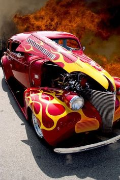 Visit The MACHINE Shop Café... ❤ Best of Hot Rod @ MACHINE ❤ (Hot Flamed Street Rod Coupé)