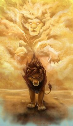 LION KING this is such a powerful image If I had the balls to do a tattoo like that I would put my dog instead and her in the clouds rip Ginger <3