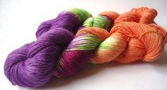Handgefärbt Merino Lace Filigran: Magischer März von lakeside-wolle auf DaWanda.com