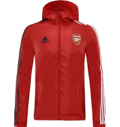 Arsenal 20/21 Red Hoodie Windbreaker – zorrojersey