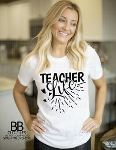 School Images, Silhouette Studio, Cricut Design, Cutting Files, Back To School, Teacher, T Shirts For Women, Life, Fashion