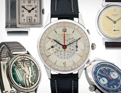 GEAR PATROL: Time for Mad Men - Five Watches of the Era---   The watches of Mad Men are meticulously curated, but in appreciation of yesterday's premier, we've corralled five pieces of the era currently available for you to bid, peruse or purchase at will. Where you starch your matching white shirts we leave entirely to your discretion.