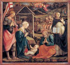 1460-65,Fra Filippo LIPPI,Adoration of the Child with Saints,panel,146x157cm,Museo Civico,Prato.